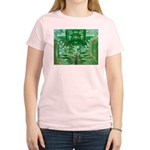 Olmec Were Jaguar  Women's Pink T-Shirt