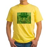 Olmec Were Jaguar  Yellow T-Shirt