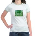 Olmec Were Jaguar  Jr. Ringer T-Shirt