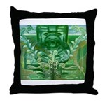 Olmec Were Jaguar  Throw Pillow