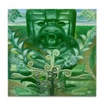 Olmec Were Jaguar  Tile Coaster