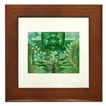 Olmec Were Jaguar  Framed Tile