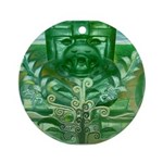Olmec Were Jaguar  Ornament (Round)