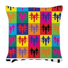 Pop Art Foosball Woven Throw Pillow