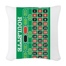 Roulette Woven Throw Pillow