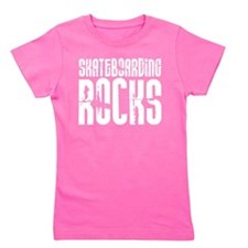 Skateboarding Rocks Girl's Tee