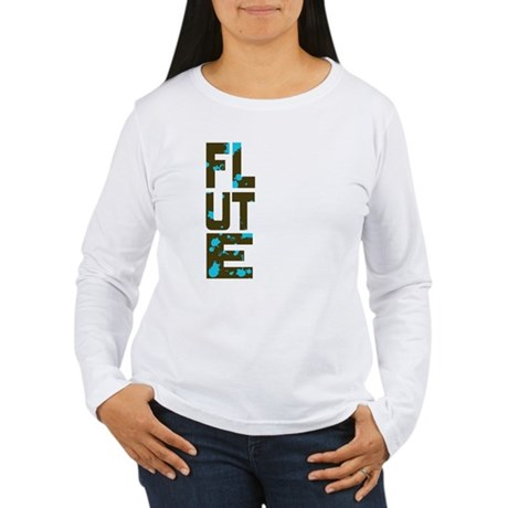Asymmetrical Flute Women's Long Sleeve T-Shirt