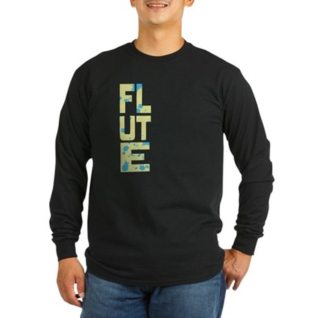 Asymmetrical Flute Long Sleeve Dark T-Shirt