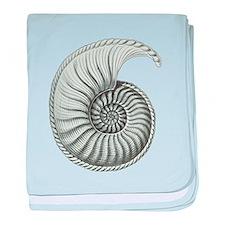 Ammonite baby blanket