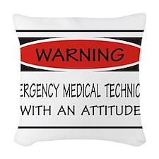 Emergency Medical Technician Woven Throw Pillow