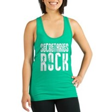 Secretaries Rock Racerback Tank Top