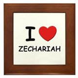 I love Zechariah Framed Tile