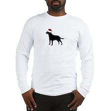 """Lab """"Santa Hat"""" Long Sleeve T-Shirt"""