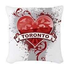 Heart Toronto Woven Throw Pillow