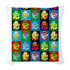 Pop Art Karl Marx Woven Throw Pillow