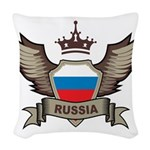 Russia Emblem Woven Throw Pillow