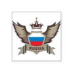 Russia Emblem Square Sticker 3