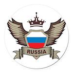 Russia Emblem Round Car Magnet