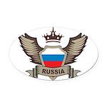 Russia Emblem Oval Car Magnet