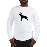 "Pit Bull ""Santa Hat"" Long Sleeve T-Shirt"