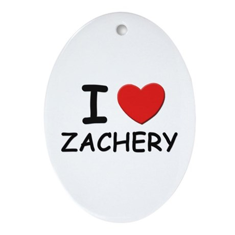 I love Zachery Oval Ornament