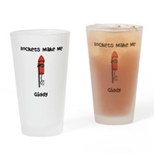 Rockets Make Me Giddy Drinking Glass