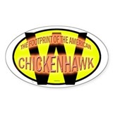 Chickenfoot Oval Decal