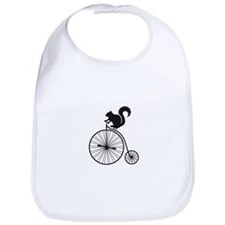 squirrel on vintage bicycle Bib