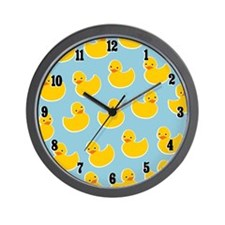 Cute Ducky Pattern Wall Clock