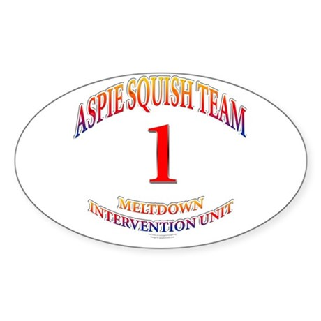 Aspie Squish Team Oval Sticker