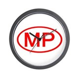 MP Oval - N. Mariana Islands Wall Clock