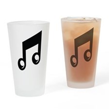 Music Note Drinking Glass