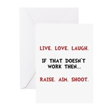 Live Laugh Shoot Greeting Cards (Pk of 10)