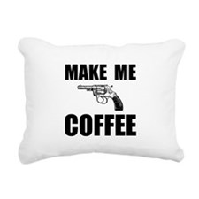 Make Me Coffee Rectangular Canvas Pillow