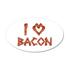 I Love Bacon Wall Decal