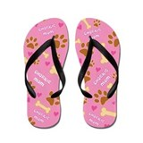 Chorkie Mom Gift Flip Flops