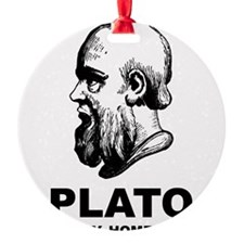 Plato Is My Homeboy Ornament
