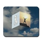 White Ribbon Mousepad
