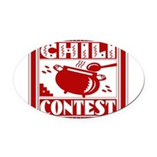 Chili Contest Oval Car Magnet