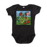 Strawberry Puzzle Baby Bodysuit