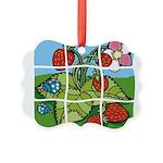 Strawberry Puzzle Picture Ornament