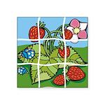 Strawberry Puzzle Square Sticker 3