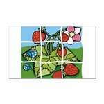 Strawberry Puzzle Rectangle Car Magnet