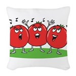 Singing Tomatoes Woven Throw Pillow