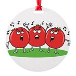 Singing Tomatoes Round Ornament