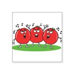 Singing Tomatoes Square Sticker 3