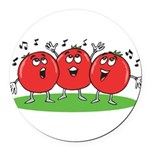 Singing Tomatoes Round Car Magnet