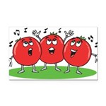 Singing Tomatoes Rectangle Car Magnet