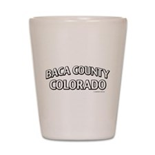 Baca County Colorado Shot Glass