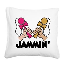 Kendama Jammin' Square Canvas Pillow